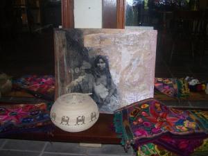 Mariette Ravet Artwork Native Woman Collage