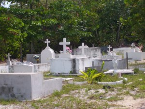 cemetery caye caulker, belize
